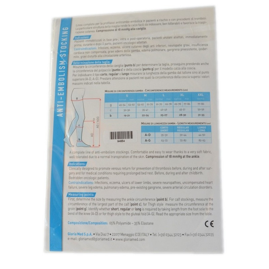 Calza Autoreggente 18 mm Hg Gloria Med
