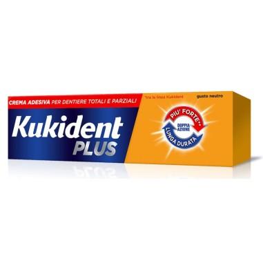 Crema Adesiava per Dentiere Kukident Plus Doppia Azione