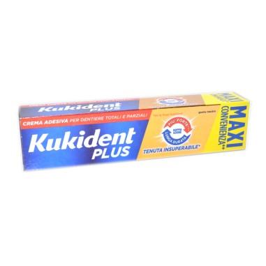 Crema Adesiva per Dentiere Kukident Plus Doppia Azione - Maxi Convenienza