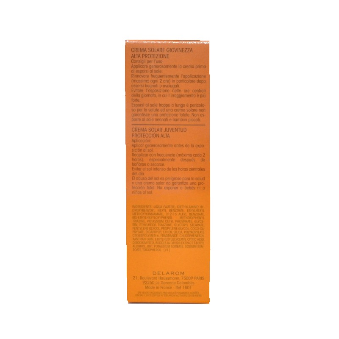 Crema Solare Giovinezza Alta Protezione Delarom