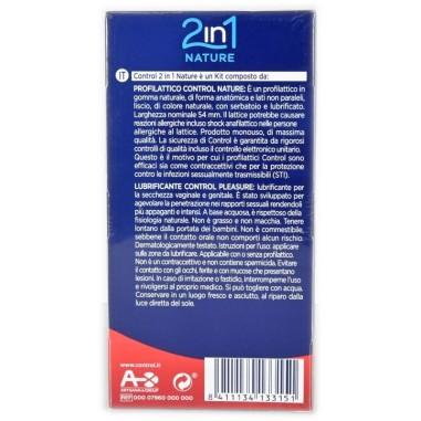 Preservativo e Gel 2 in 1 Nature Control