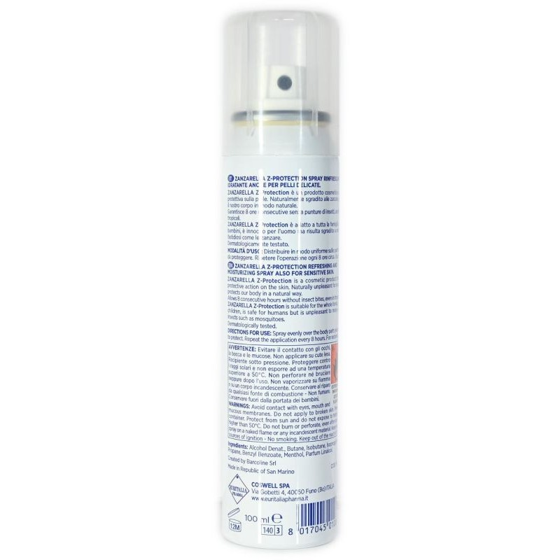 Spray Rinfrescante e Idratante Z-Protection