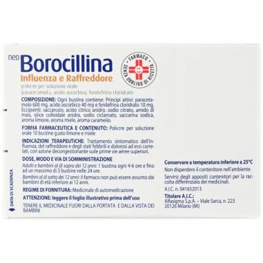 NeoBorocillina Influenza e Raffreddore