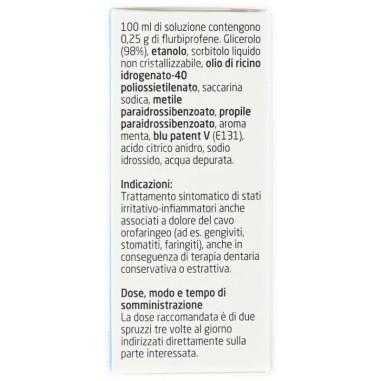 Spray per Mucosa Orale Flurbiprofene Teva 0,25%