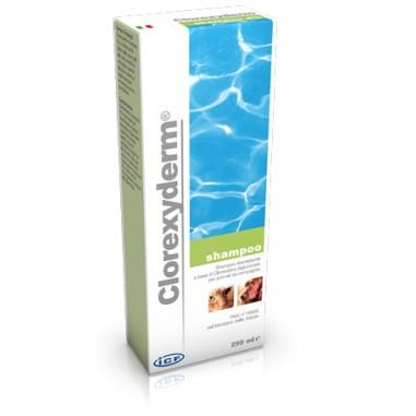 Clorexyderm shampoo disinfettante alla clorexidina per la pulizia e l'igiene di cani e gatti