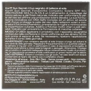 Fondotinta Compatto Solare Spf 50+ Korff