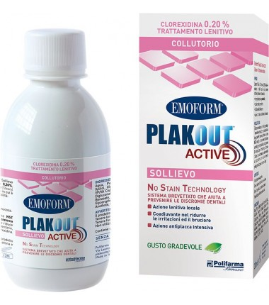 Collutorio Emoform Plak Out Active Sollievo 0,20%
