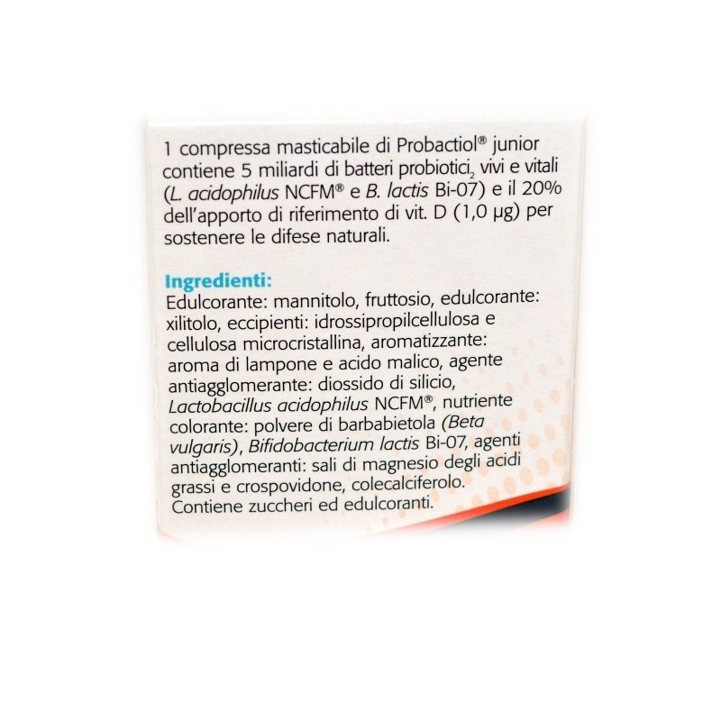 PROBACTIOL JUNIOR COMPRESSE MASTICABILI