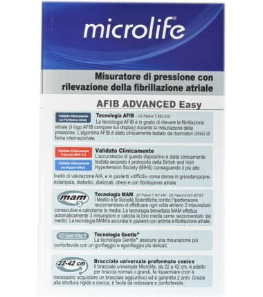 Misuratore di Pressione Afib Advanced Easy